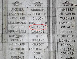 Francisco de Miranda - Image: Arco triunfo miranda