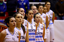 Argentinian women's basketball team in Ecuador 2014.jpg