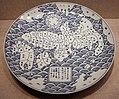 Arita, piatto con mappa del giappone, 1830-43.jpg