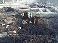 Arkeologisk utgrävning av Gamlestadstorget 20140417c.jpg