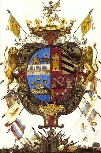 Pious Fund of the Californias - Coat of arms of the Marquis of Villapuente de la Peña.