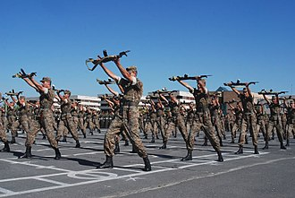 Military academy - Armenian soldiers at the Vazgen Sargsyan Military University in 2013.