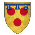 Arms of Sir Hugh de Courtenay, KG.png