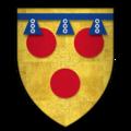 Arms of Sir Hugh de Courtenay, KG.png