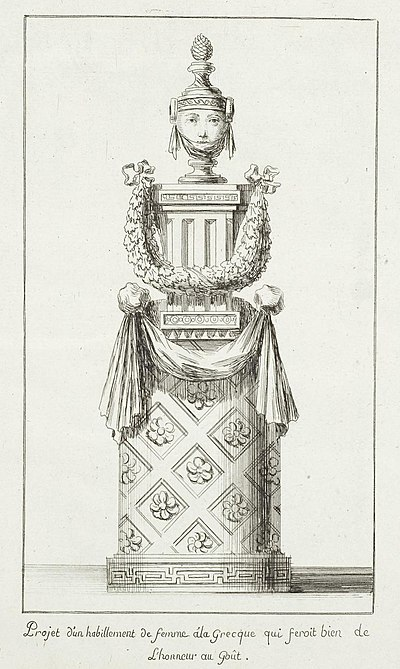 18th century illustration of a woman made of ornaments and elements of Classical architecture Arolsen Klebeband 14 005.jpg