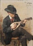 Aron Johansson (1860-1936), arkitekt, akvarellist, ledamot av Konstakademien, g.m. 1 - Nationalmuseum - 177758.tif