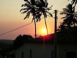 Nascer do Sol em Caetité, outubro de 2007