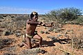 Arri Raats, Kalahari Khomani San Bushman, Boesmansrus camp, Northern Cape, South Africa (20546132331).jpg