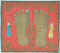 Artist, maker unknown, India - Wall Hanging (Puthia) depicting the Feet of a Jain Monk - Google Art Project.jpg