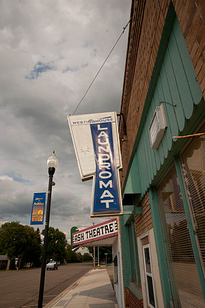 Ashley, North Dakota - Image: Ashley, North Dakota Laundromat and Ash Theatre
