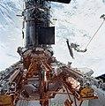 Astronauts John M. Grunsfeld and Richard M. Linnehan EVA (28025340985).jpg