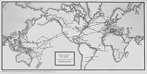 Air Transport Command - Air Transport Command major routes, 1 September 1945