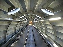 L'interno dell'Atomium