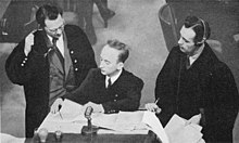 Attorneys Bergold and Aschenauer with Prosecutor Ferencz at the Einsatzgruppen Trial.jpg