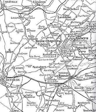 Battle of Aubers Ridge - Aubers Ridge and Festubert, 1915