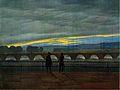 Augustusbrücke in Dresden, Farblithographie nach Caspar David Friedrich.jpg