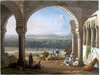 Aurangzeb - Sepoys loyal to the Mughal Emperor Aurangzeb maintain their positions around the palace, at Aurangabad, in 1658.