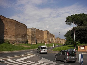 Aurelian wall outside Porta Ardeatina.jpg