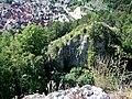 Aussicht vom Blaufels 653 m. ü. NN auf den Glasfels - panoramio.jpg
