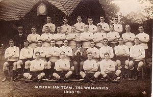 Australia national rugby union team - The squad that went on tour in 1908–09.
