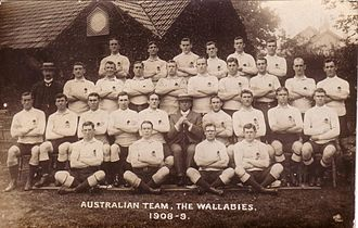 Rugby union at the 1908 Summer Olympics - The Australia side that won the Gold Medal