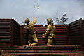 Australian Army soldiers throw a grenade RIMPAC Exercise 2014.JPG