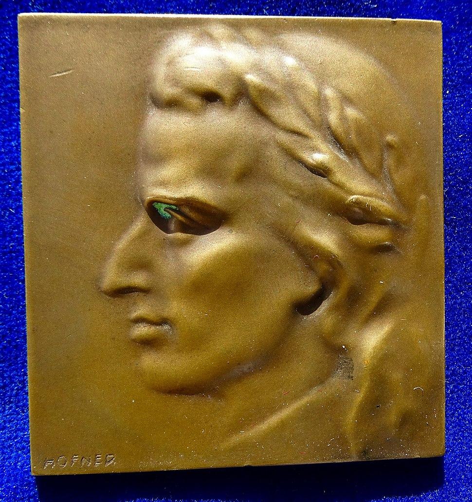 Austria, Schiller Bronze-Plaque-Medal N.D. by Hofner
