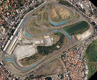 Autódromo José Carlos Pace - Satellite view of the circuit in 2018