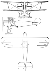 Avro Baby 3-view Les Ailes September 1, 1921.png