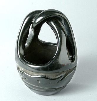Awanyu - Bowl from Santa Clara Pueblo depicting Awanyu