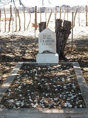 Axel Wilhelm Eriksson - Axel Eriksson's grave