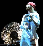 Axl Rose on stage in Tel Aviv, Israel, 1993