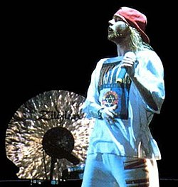 Axl Rose at Yarkon Park in Tel Aviv, Israel -- May 1993.jpg