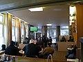 Büttnerstraße 9, Hannover, d1, Werkheim e.V., gutbesuchte Kaffeestube am Sonntagnachmittag mit Fernsehübertragung eines Fußballspiels.jpg