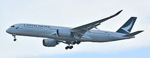 Cathay Pacific fleet - Cathay Pacific Airbus A350-900  at Bangkok in new livery