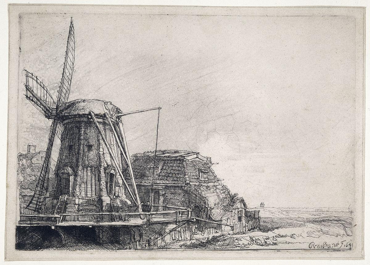 Le Moulin (Rembrandt, gravure) — Wikipédia