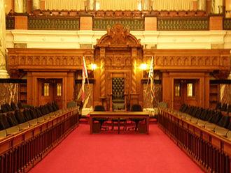 Politics of British Columbia - The chamber of the provincial legislature in Victoria
