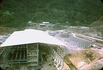 Panguna mine - Image: BCP mill Copper ore concentrator undergoing construction. Mill building. 1 c. 1971