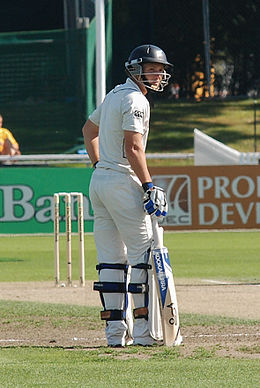 BJ Watling as non-striker, Hamilton test 2010 20100328 1.jpg