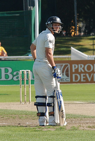 BJ Watling - Watling seen as the non-striker during a test in 2010