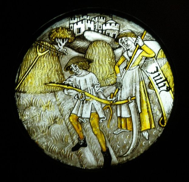 File:BLW Stained Glass Panel - Labours of the Months (July).jpg