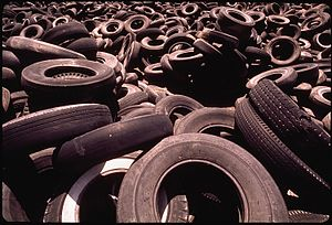 Waste tires - Waste tire dump in San Joaquin, California in 1972