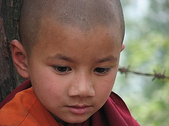 East Sikkim district - Image: Baby lama