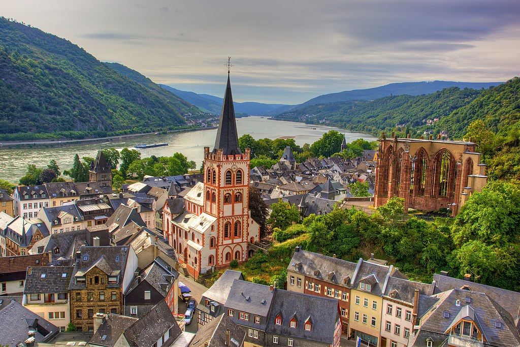 Bacharach (St. Peter, Wernerkapelle) from the Postenturm