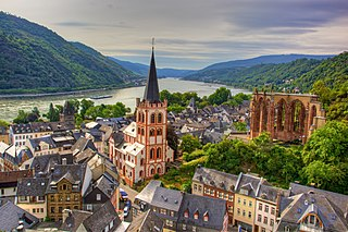 Bacharach Place in Rhineland-Palatinate, Germany