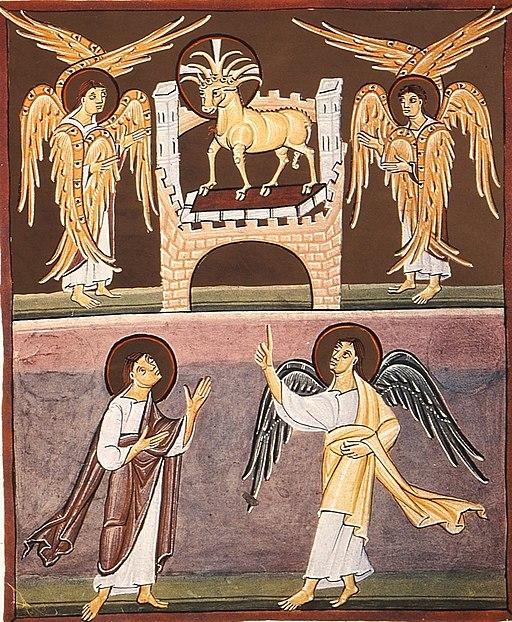 BambergApocalypseFolio013vLambAndBookWith7Seals