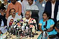 Bandaru Dattatreya addressing the media after reviewing the performance of various departments and organizations under the Ministry of Labour and Employment, in Chennai on January 10, 2015.jpg