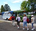 Bandelier National Monument in September 2011 - Atomic City Transit bus in White Rock.JPG