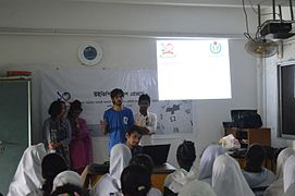 Bangla Wikipedia School Program at Agrabad Government Colony High School (Girls' Section) 24.JPG