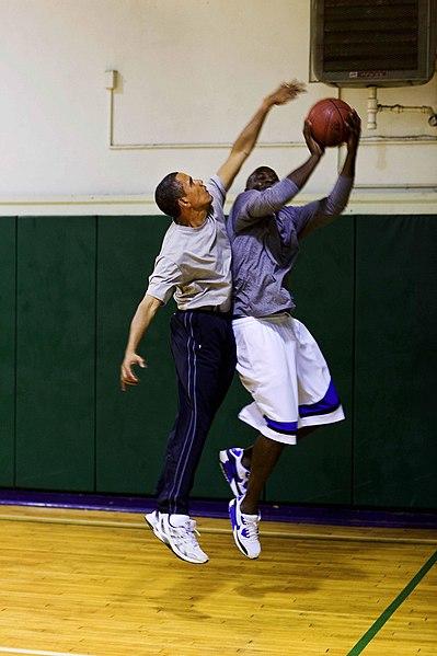 File:Barack Obama and Reggie Love playing basketball 2.jpg